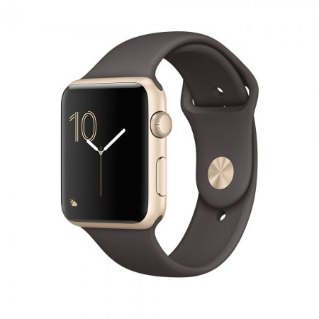 Smart Часовник Apple Watch 1 Aluminium Gold Case Cocoa Sport Band 42mm - MNNN2