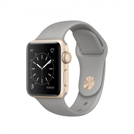 Smart Часовник Apple Watch 1 Aluminium Gold Case Concrete Sport Band 38mm - MNNJ2
