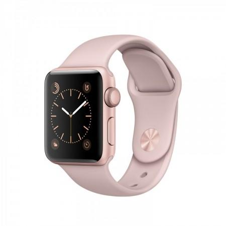Smart Часовник Apple Watch 1 Aluminium Gold Case Pink-Sand Sport Band 38mm - MNNH2