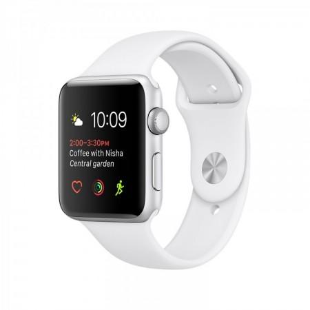 Smart Часовник Apple Watch 1 Aluminium Silver Case  White Sport Band 38mm - MNNG2