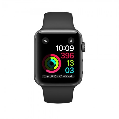 Цена на Apple Watch 1 Aluminium Space Grey Case Black Sport Band 42mm - MP032