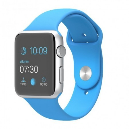 Smart Часовник Apple Watch Aluminium Silver Case Blue Sport Band 42mm - MJ3Q2