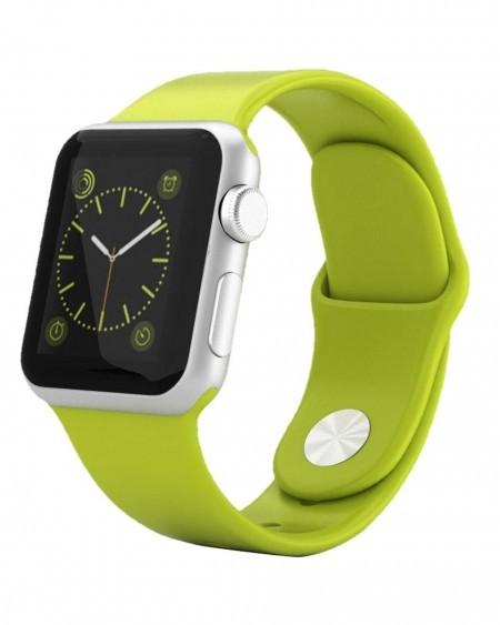 Smart Часовник Apple Watch Aluminium Silver Case Green Sport Band 42mm - MJ3P2