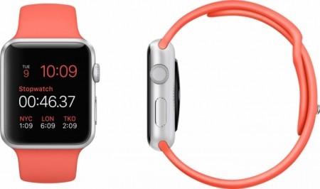 Smart Часовник Apple Watch Aluminium Silver Case Pink Sport Band 38mm - MJ2W2