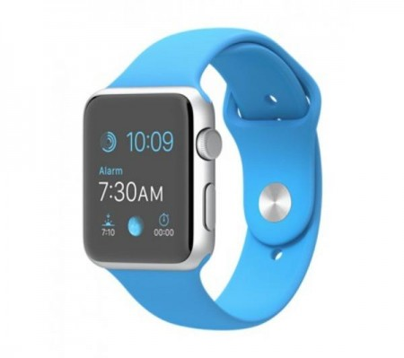 Smart Часовник Apple Watch Aluminum Silver Case Blue Sport Band 42mm - MLC52