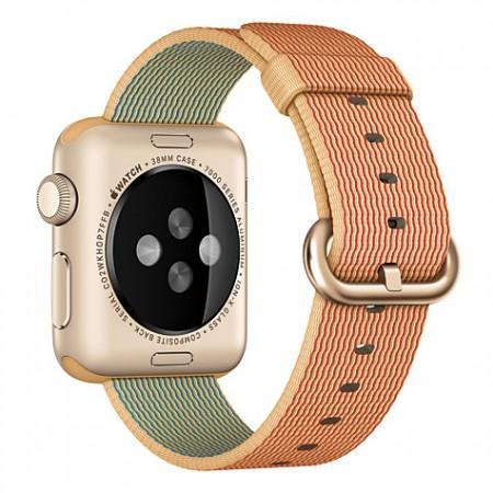 Цена Apple Watch Gold Red Woven Nylon Gold Aluminum Case 38mm - MMF52