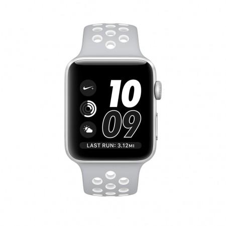 Цена на Apple Watch NIKE+ SILVER ALUMINUM FLAT SILVER/WHITE NIKE SPORT 38MM - MNNQ2
