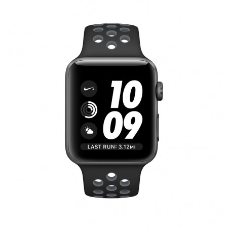 Цена на Apple Watch NIKE+ SPACE GRAY ALUMINUM BLACK/COOL GRAY NIKE SPORT 38MM - MNYY2