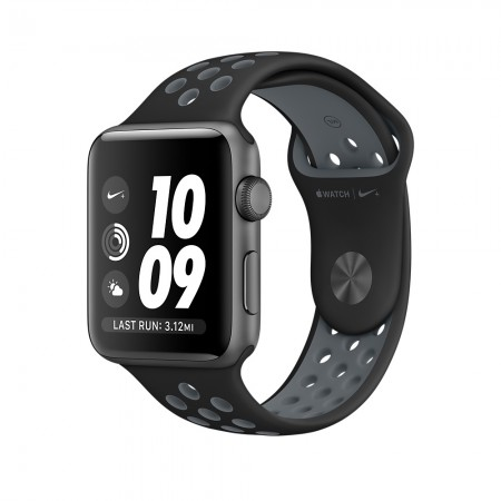 Smart Часовник Apple Watch NIKE+ SPACE GRAY ALUMINUM BLACK/COOL GRAY NIKE SPORT 42MM - MNYY2