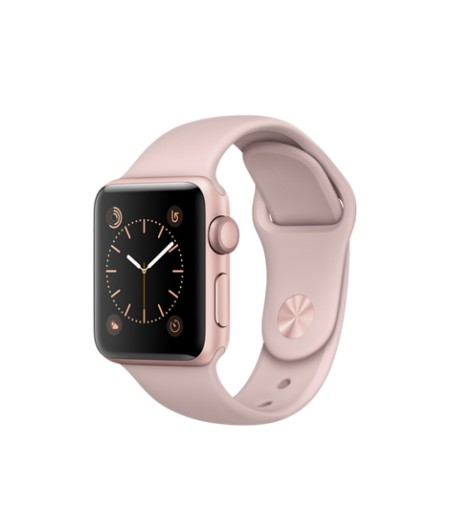 Apple Watch Series 2  Aluminium Gold Case Pink-Sand Sport Band 38mm - MNNY2