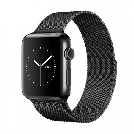 Smart Часовник Apple Watch Series 2  Stainless Steel Black Case Black Milanese Loop 42mm - MNQ12
