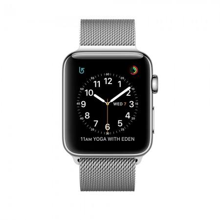 Цена на Apple Watch Series 2  Stainless Steel Case Silver Milanese Loop 42mm - MNPU2