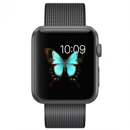 Цена на Apple Watch Series 2 Black Woven Nylon Space Gray Aluminum Case 42mm - MMFR2