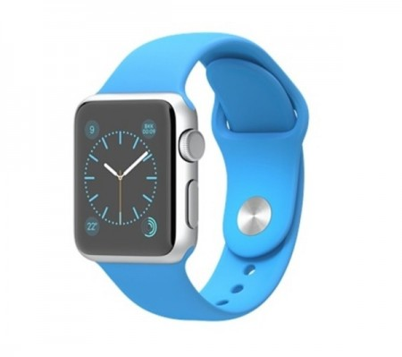 Smart Часовник Apple Watch Sport Aluminum Silver Case Blue Sport Band 38mm - MLCG2