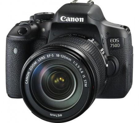 Фотоапарат Canon EOS 750D + обектив CANON EF-S 18-135mm IS STM + обектив CANON 75-300mm f/4-5.6 USM