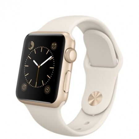 Smart Часовник Apple Watch Aluminium Gold Case Antique White Sport Band 38mm - MLCJ2