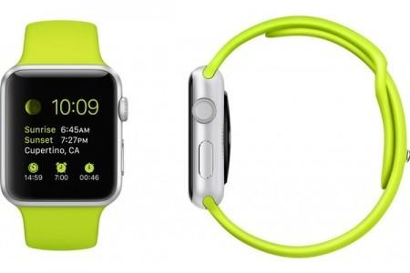 Smart Часовник Apple Watch Aluminium Silver Case Green Sport Band 38mm - MJ2U2