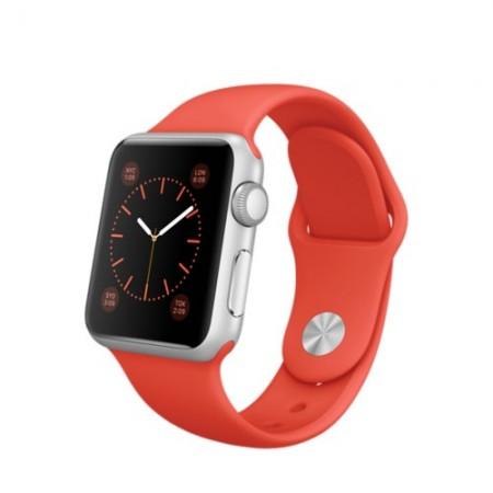 Smart Часовник Apple Watch Aluminium Silver Case Orange Sport Band 38mm - MLCF2