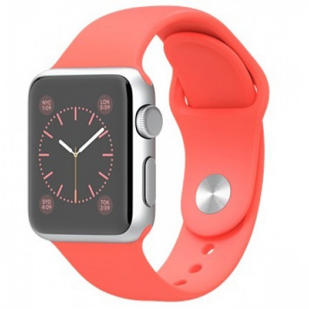 Smart Часовник Apple Watch Aluminium Silver Case Pink Sport Band 42mm - MJ3R2