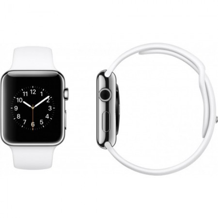 Smart Часовник Apple Watch Aluminium Silver Case White Sport Band 38mm  MJ2T2