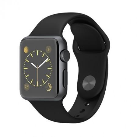 Smart Часовник Apple Watch Aluminium Space Gray Case Black Sport Band 42mm  MJ3T2