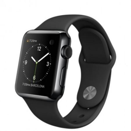 Smart Часовник Apple Watch Black Stainless Steel Case Sport Band 38mm - MLCK2