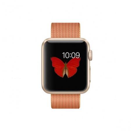 Цена на Apple Watch Gold Red Woven Nylon Gold Aluminum Case 38mm  MMF52