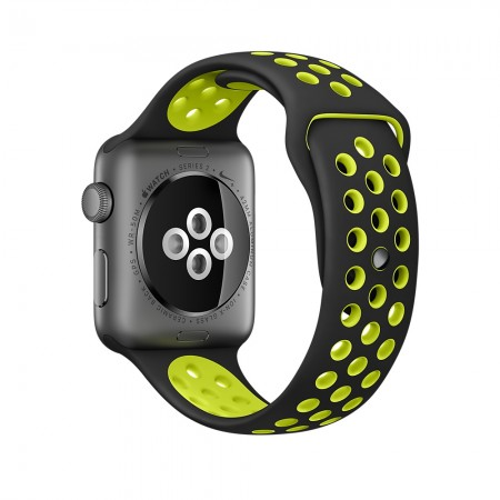 Снимки на Apple Watch NIKE+  SPACE GRAY ALUMINUM BLACK/VOLT NIKE SPORT 42MM - MP0A2