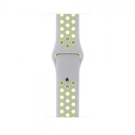 Снимки на Apple Watch NIKE+ SILVER ALUMINUM FLAT SILVER/VOLT NIKE SPORT 42MM - MNYQ2