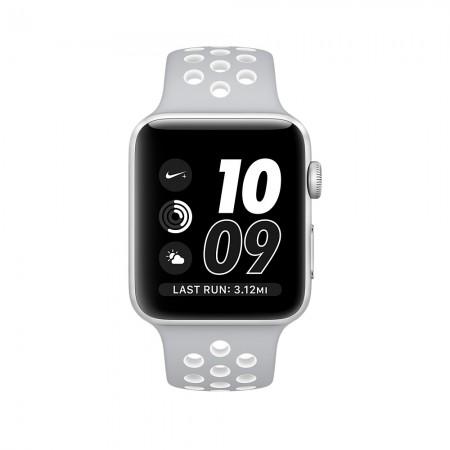 Цена на Apple Watch NIKE+ SILVER ALUMINUM FLAT SILVER/WHITE NIKE SPORT 42MM - MNNT2