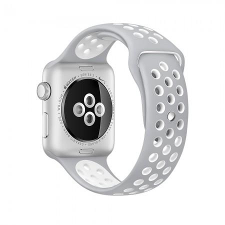 Снимки на Apple Watch NIKE+ SILVER ALUMINUM FLAT SILVER/WHITE NIKE SPORT 42MM - MNNT2