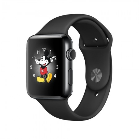 Apple Watch Series 2  Space Black Stainless Steel Case Black Sport Band 38mm - MP492