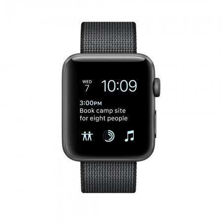 Цена на Apple Watch Series 2 Space Gray Aluminum Case With Black Woven Nylon 38mm -  MP052