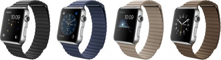 Smart Часовник Apple Watch Stainless Steel Case Leather Loop 42mm