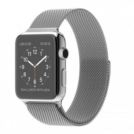 Smart Часовник Apple Watch Stainless Steel Case Milanese Loop 42mm  MJ3Y2