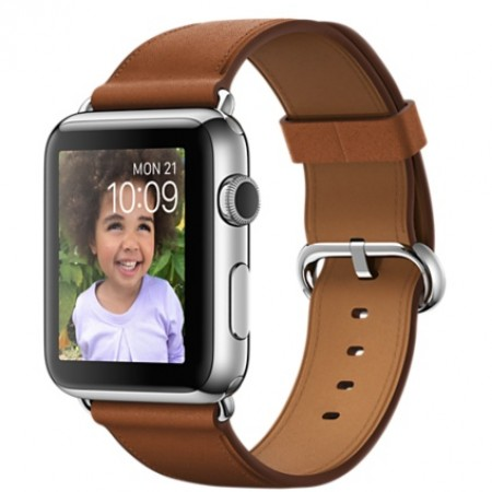 Smart Часовник Apple Watch Stainless Steel Case Saddle Brown Classic Buckle 42mm - MMFT2