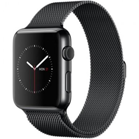 Smart Часовник Apple Watch Stainless Steel Case Space Black Milanese Loop 42mm  MMG22