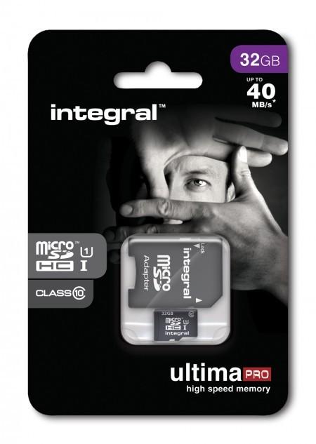 Карта памет Integral 32GB micro SDHC Ultima PRO (class 10) 40MB/s