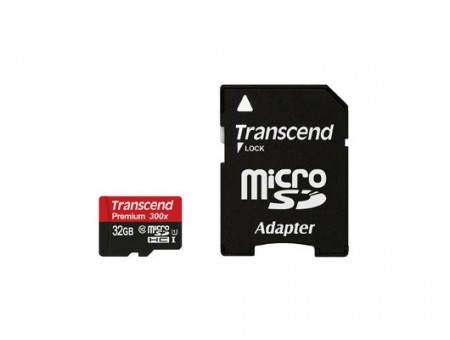 Карта памет Transcend 32GB micro SDHC UHS-I Premium 1 adapter - Class 10 TS32GUSDU1