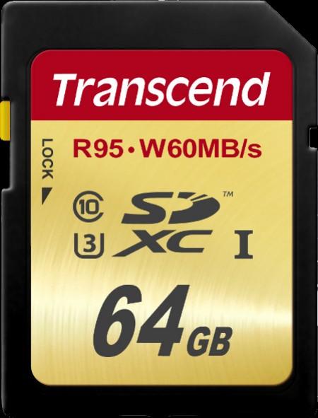 Карта памет Transcend 64GB SDXC UHS-I U3 Ultimate TS64GSDU3