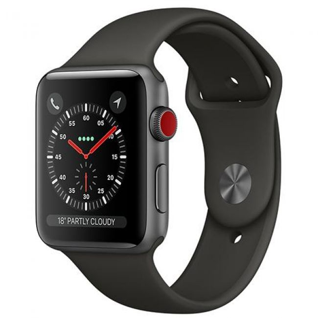 Smart Часовник Apple Apple Watch Series 3 GPS + Cellular 42mm Space Grey Aluminum Case (with Sport Band)-MR302