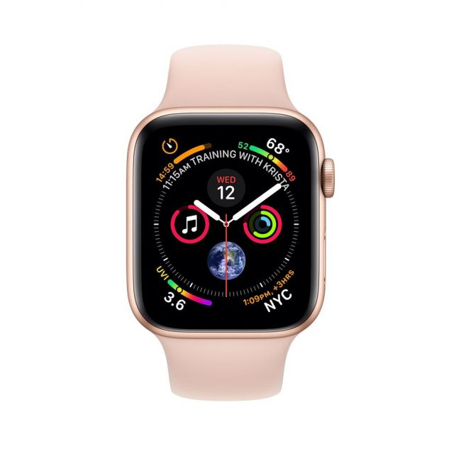 Smart Часовник Apple Apple Watch Series4 44mm-GPS ALUMINUM CASE WITH PINK SAND SPORT BAND-MU6F2