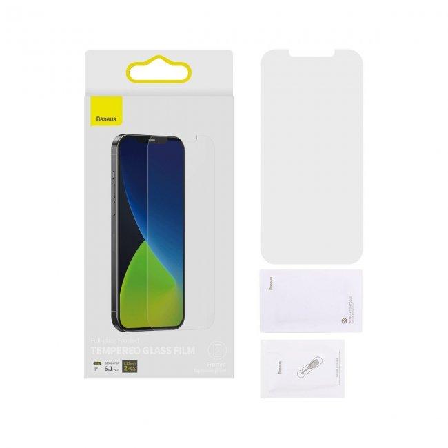 Стъклен Протектор за мобилен телефон Apple Baseus iPhone 12/12 Pro 0,25mm Frosted explosion