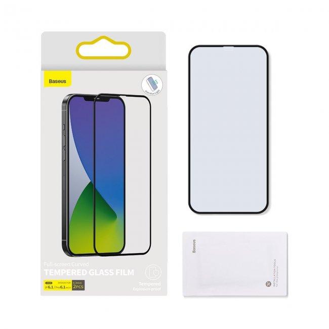Стъклен Протектор за мобилен телефон Apple Baseus iPhone 12/12 Pro  0,3mm Anti Blue Light