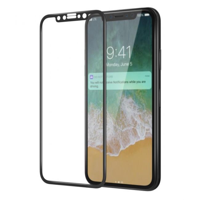 Стъклен Протектор за мобилен телефон Apple Iphone X 5D Стъклен протектор с пълно покритие