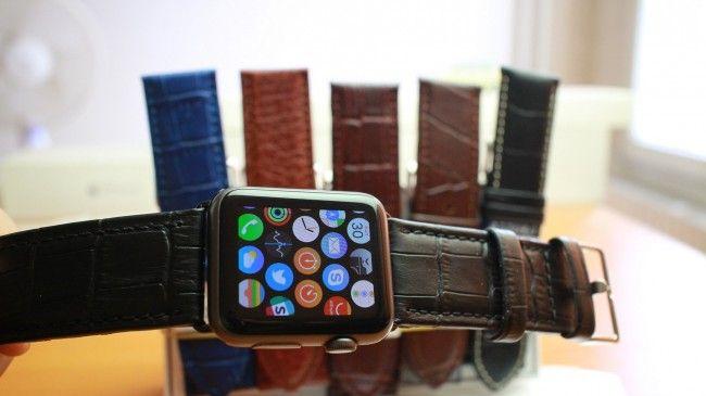Apple Каишка за часовник Apple Watch Кожена 24mm