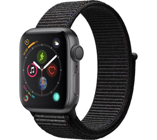 Smart Часовник, Smart Watch, Умен Часовник Apple Series 4 Space Grey-40 mm GPS-Aluminum Case with Black Sport Loop-MU672