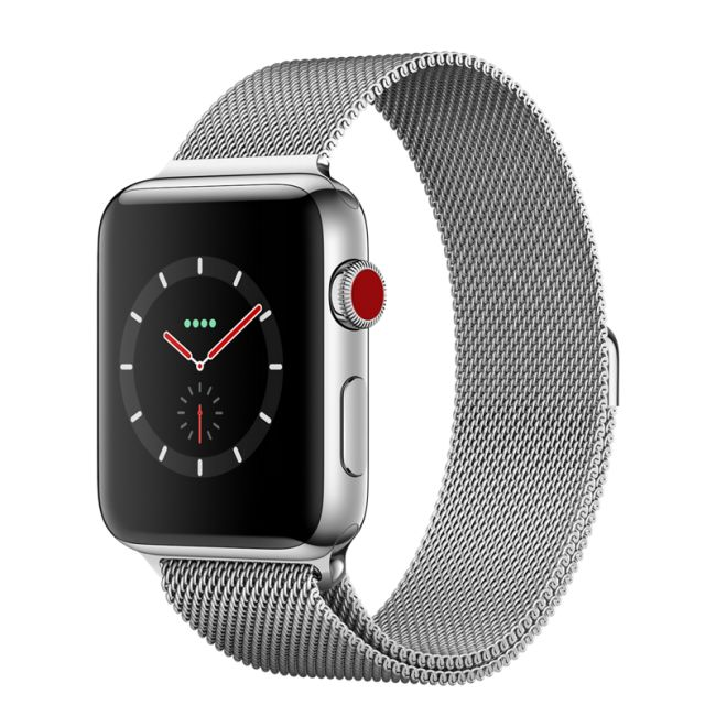 Smart Часовник Apple Smart watch Apple Watch 42mm Series 3 GPS + Cellular Stainless Steel Case with Milanese Loop (MR1U2)