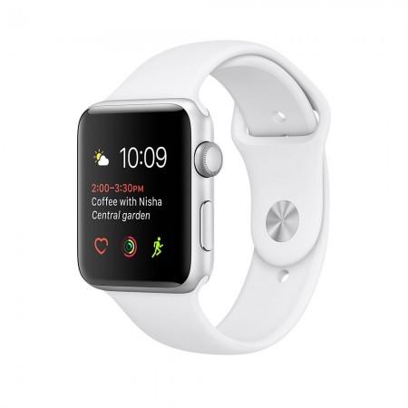 Smart Часовник Apple Watch 1 Aluminium Silver Case White Sport Band 42mm  MNNL2