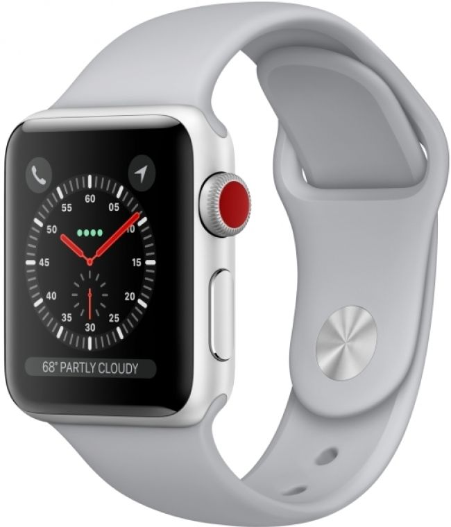 Smart Часовник Apple WATCH 3 LTE  38MM SILVER ALUMINUM CASE WITH FOG SPORT BAND -MQKF2
